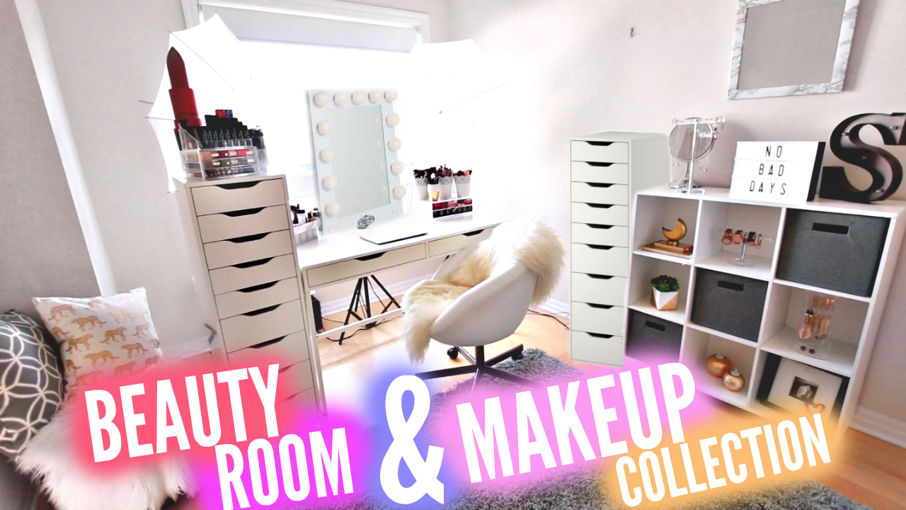 My Beauty Room Tour + Makeup Collection 2016