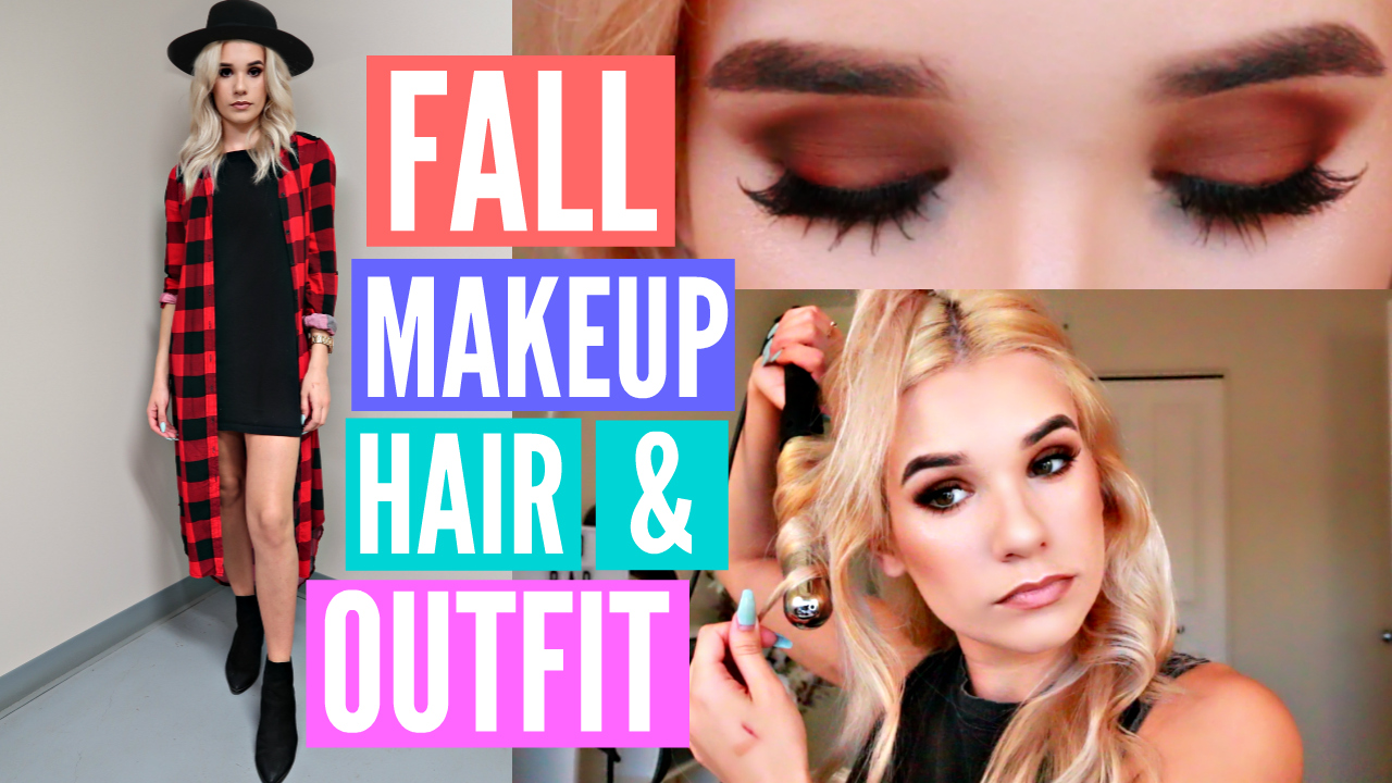 ON TREND FALL Makeup, Hair & Outfit! GET READY WITH ME