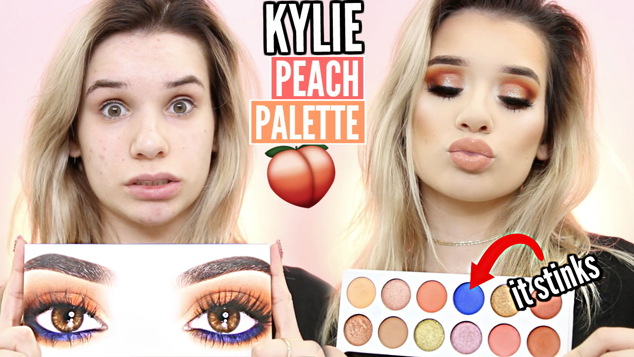 KYLIE Peach Palette Review & VALENTINES DAY Makeup Tutorial!